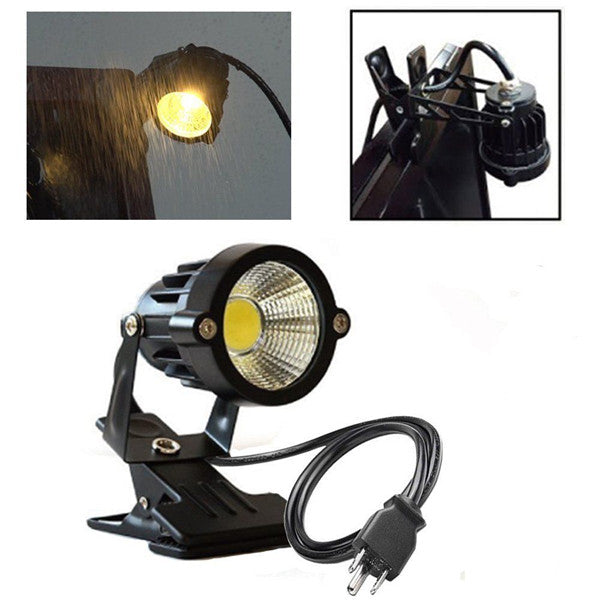 7W COB Clip-on Spotlight Outdoor IP65 Waterproof LED Flood Lights AC100-240V