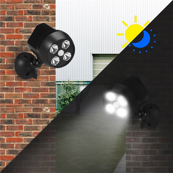 6W Waterproof Solar Powered PIR Motion Sensor Light Outdoor Security Wall Lamp