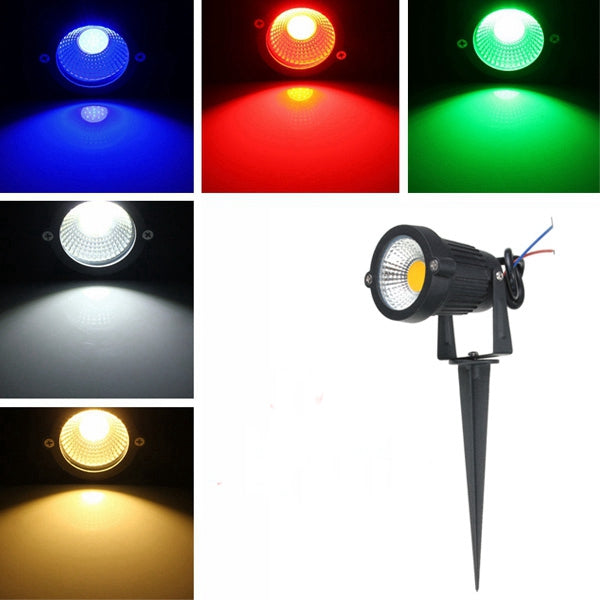 7W IP65 LED Flood Light With Rod For Outdoor Landscape Garden Path AC85-265V