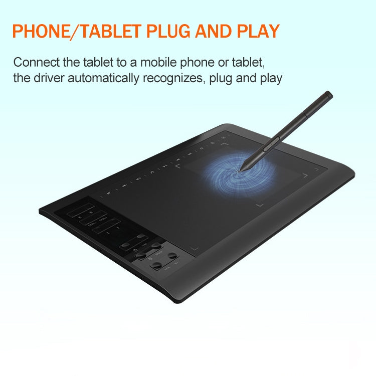 10Moons G10 Mobile Phone Tablet Computer Drawing Digital Screen with 8192 Passive Pen
