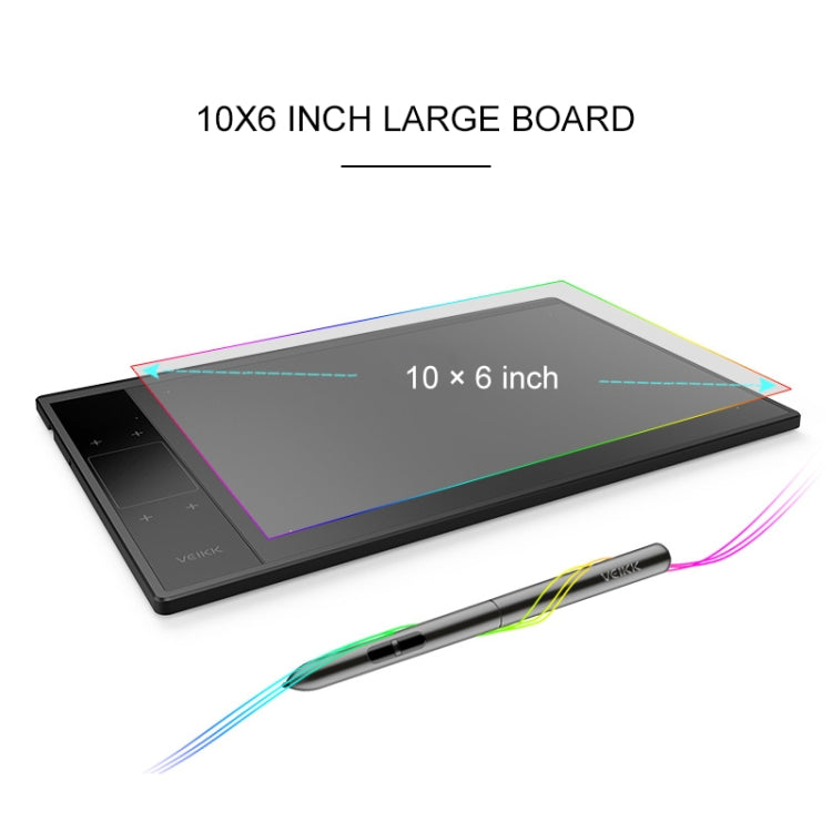 VEIKK A30 10x6 inch 5080 LPI Smart Touch Electronic Graphic Tablet, with Type-c Interface
