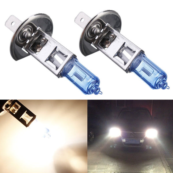Car White Headlight Halogen Bulb Replacement Lamp H1 100W 12V