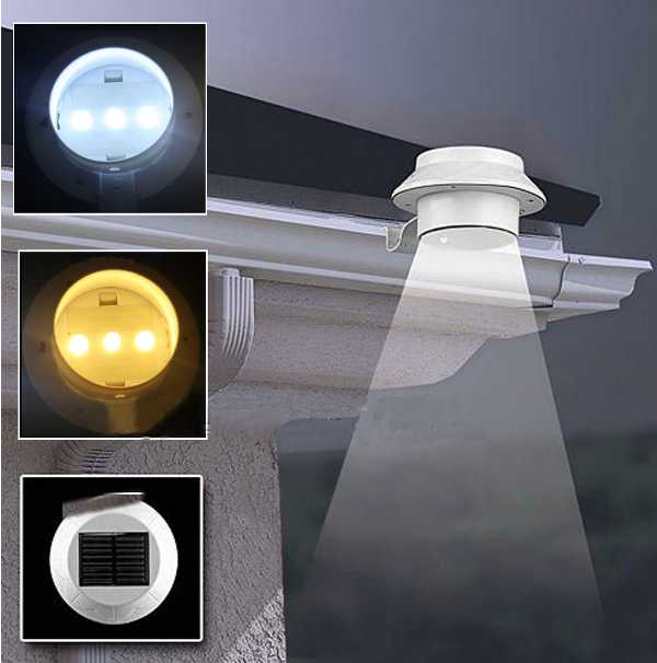 Waterproof Solar LED Light Outdoor Garden Yard Gutter Pathway Lamp