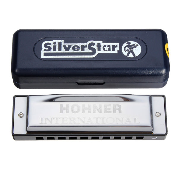 Silver Star HOHNER 10 Holes Blues Harmonica Key Of C