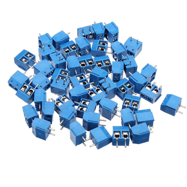 Excellway® DR66 50pcs 2pins Printed Circuit Board Connector Block Screw Terminals