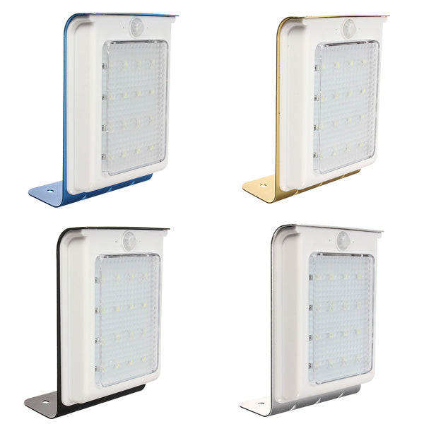 16 LED Solar Power Motion Sensor Wall Light Garden Yard Waterproof