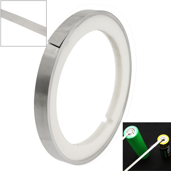 5M 0.15T Pure Ni Plated Nickel Strip Sheet Tape DIY Battery Welding Pack