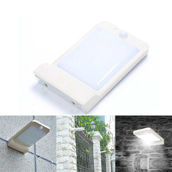 Solar Powered 32 LED 200lm PIR Sensor Wall Light Waterproof Outdoor Garden Street Security Lamp