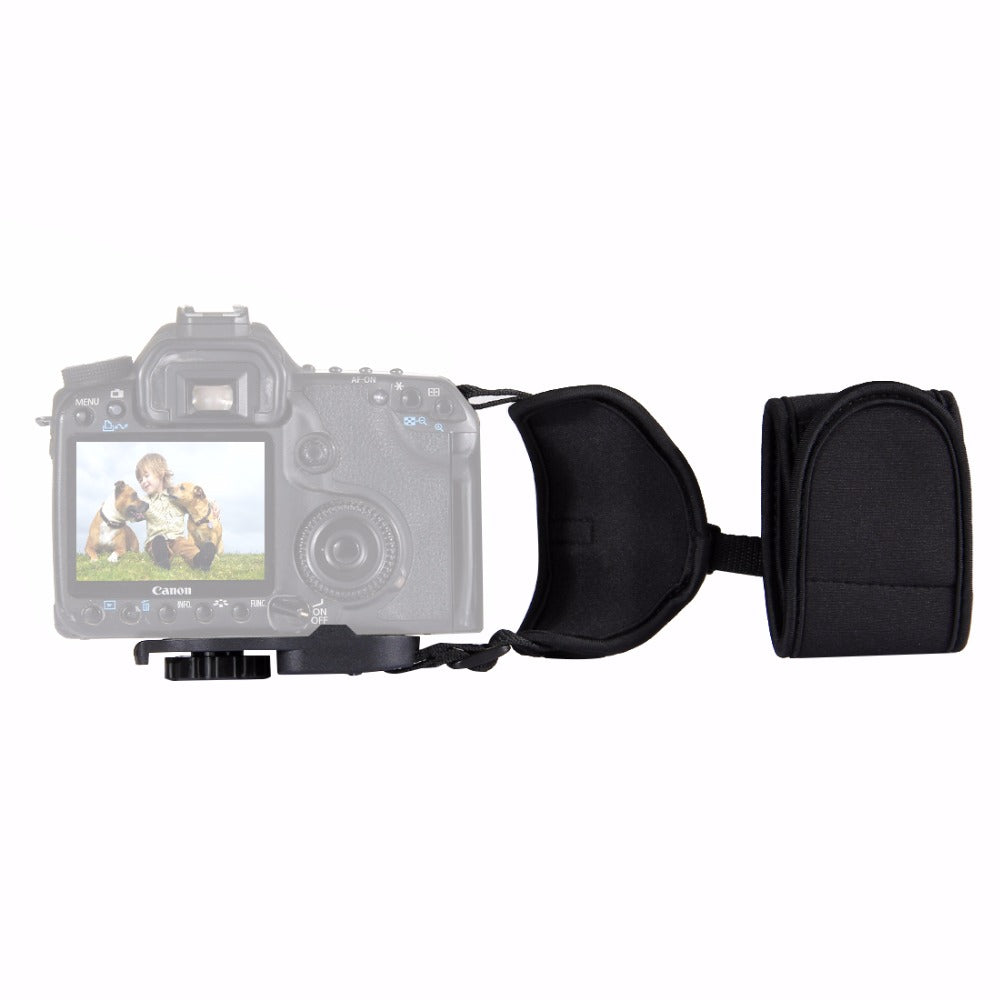 Soft Neoprene Hand Grip Wrist Strap with Hand Belt Screw Plastic Plate for DSLR Cameras