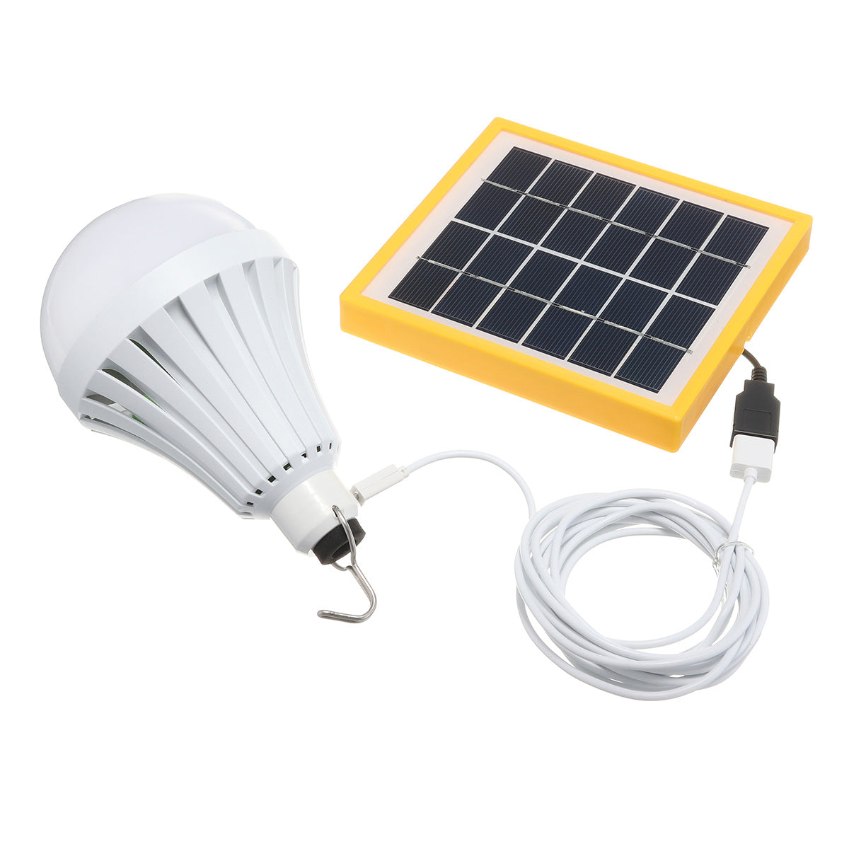 Portable LED Solar Light Panel USB Powered Bulb Emergency Lamp For Home Camping
