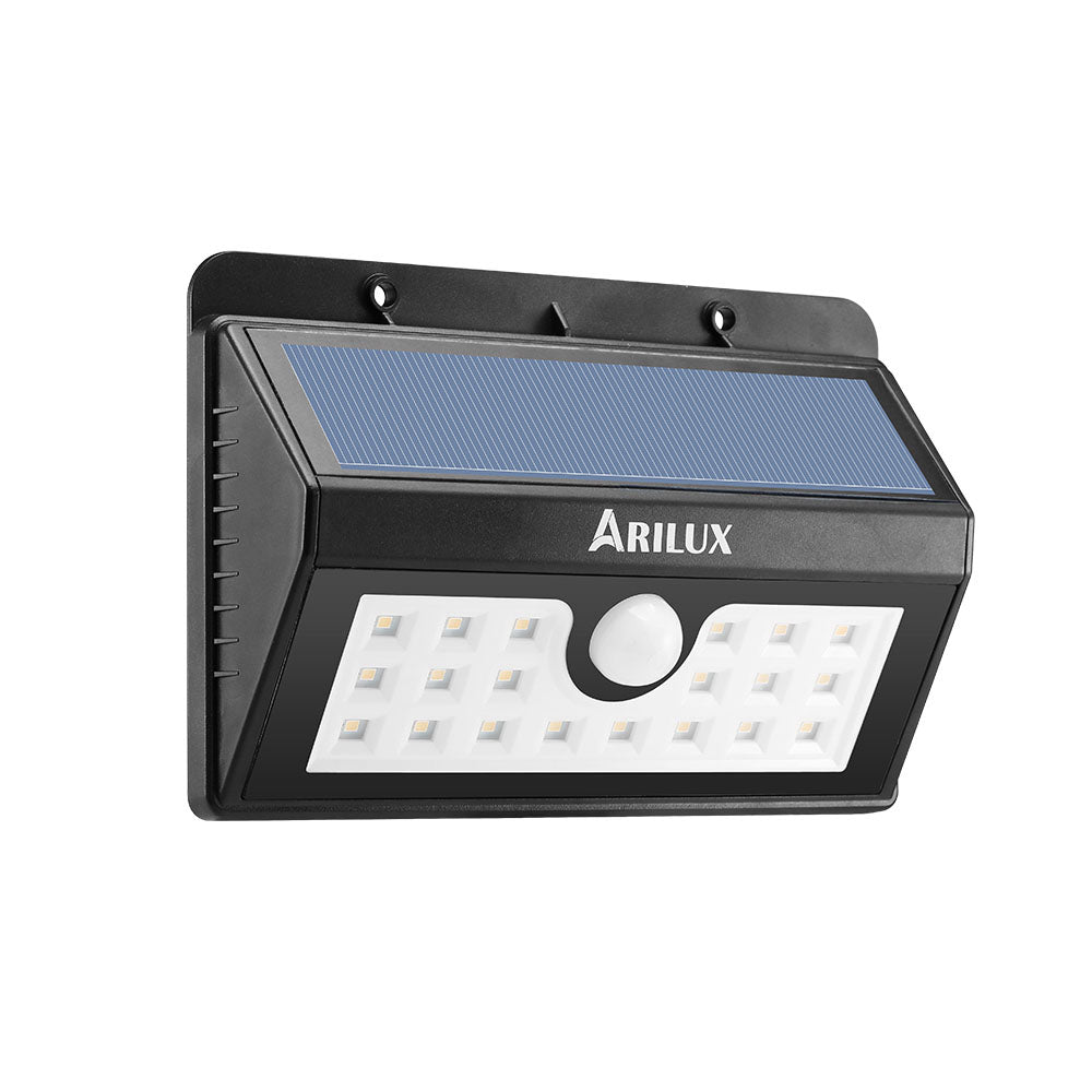 ARILUX® PL-SL 05 Wireless Solar 20 LED Waterproof PIR Motion Sensor Outdoor Warm White Wall Light