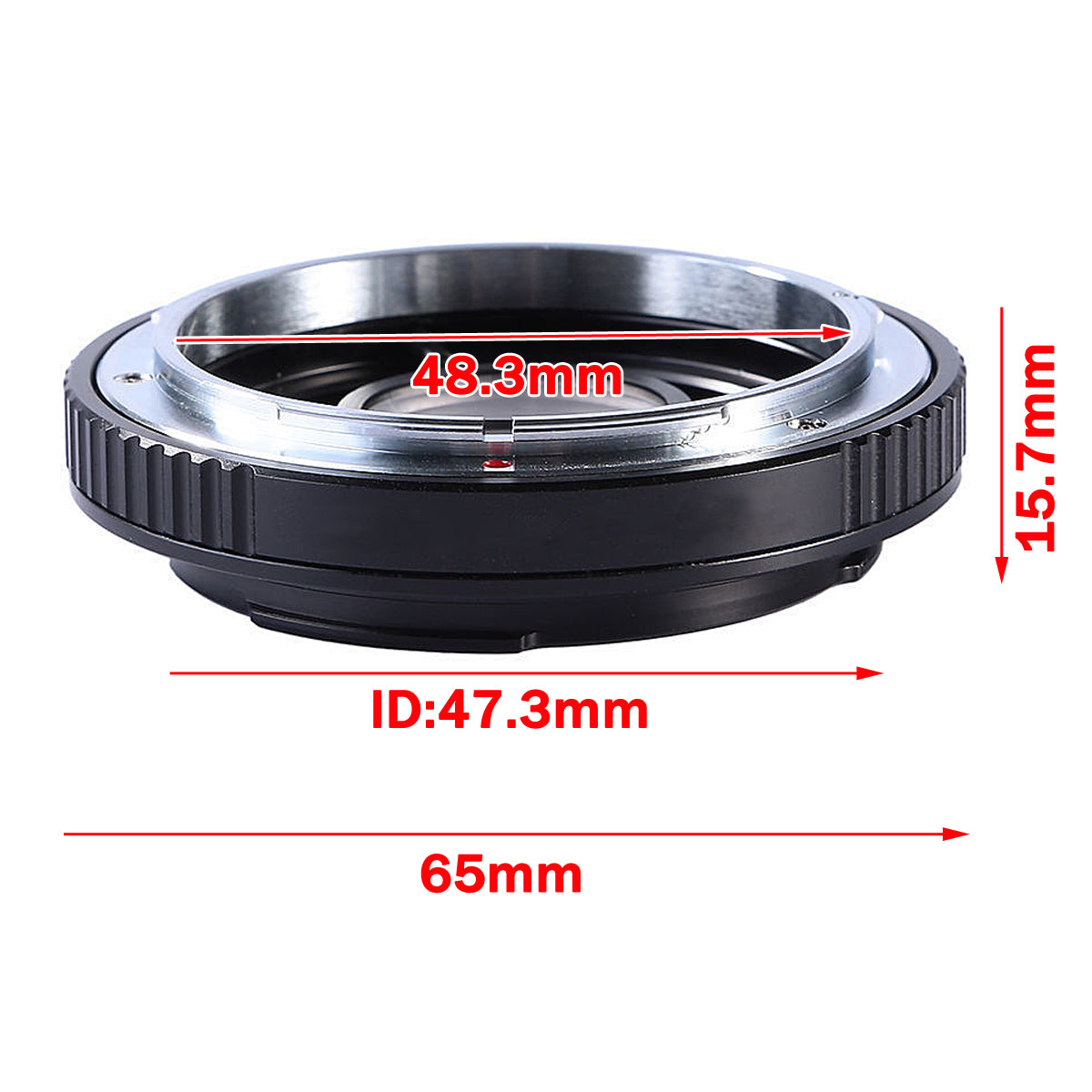 FD-EOS Mount Adapter Ring No Glass For Canon FD Lens To EOS EF