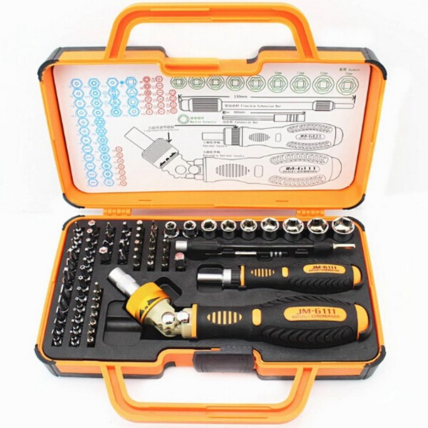 Screwdriver JM-6111 69 in 1 Screwdriver Hardware Repair Open Tools Demolition Kit Electronic Devices  Eyeglasses