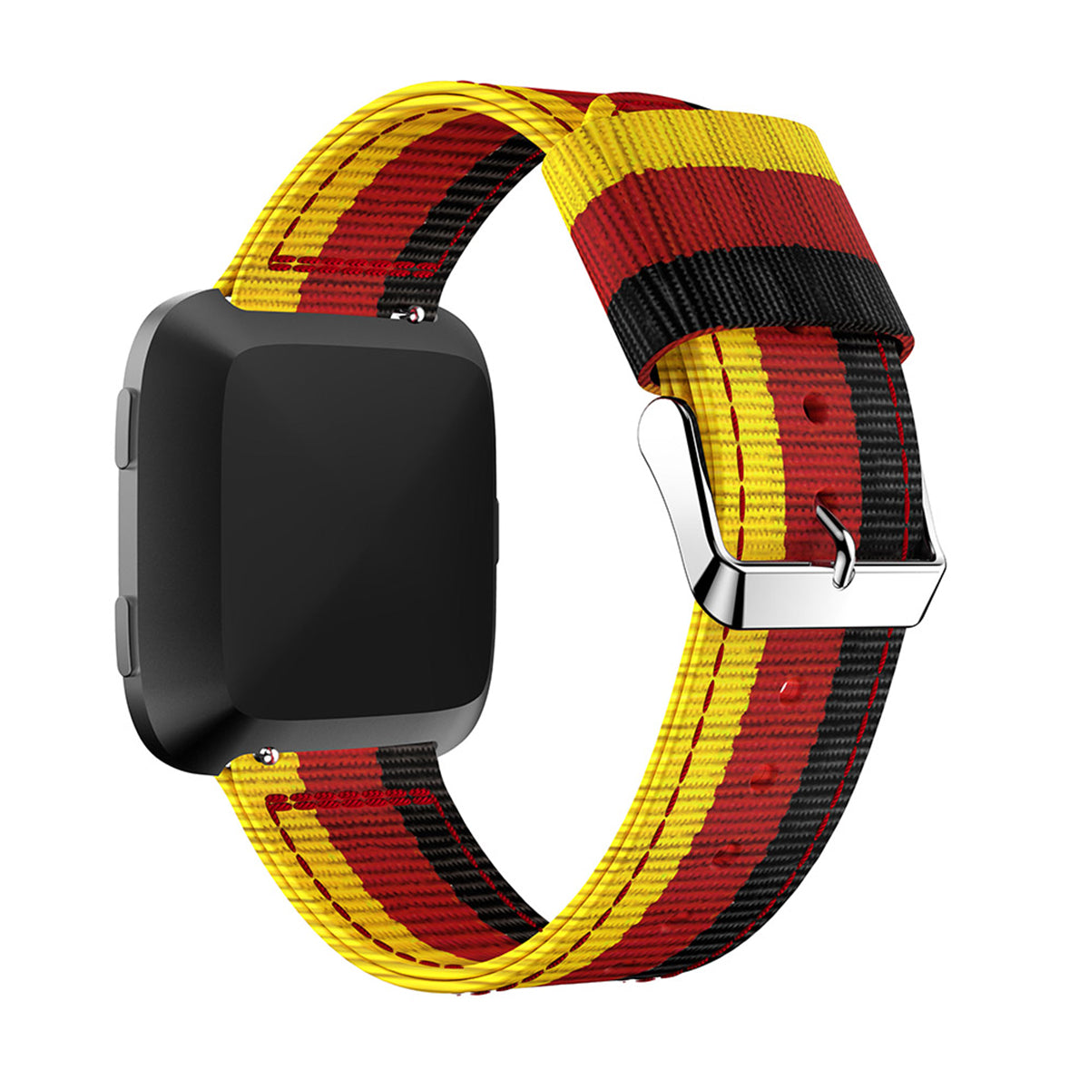 Fitbit Versa Replacement Colorful Woven Nylon Fabric Sport Wristband Strap for Fitbit Versa