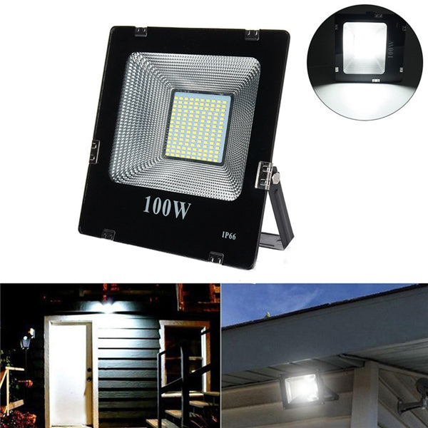 100W SMD5630 LED Aluminium Flood Light Outdoor IP66 Waterproof Yard Garden Landscape Lamp AC180-265V