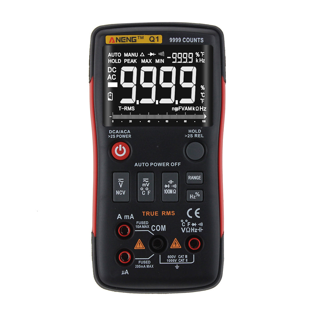 Digital Multimeter AC DC Voltage Current Resistance Capacitance Temperature Tester