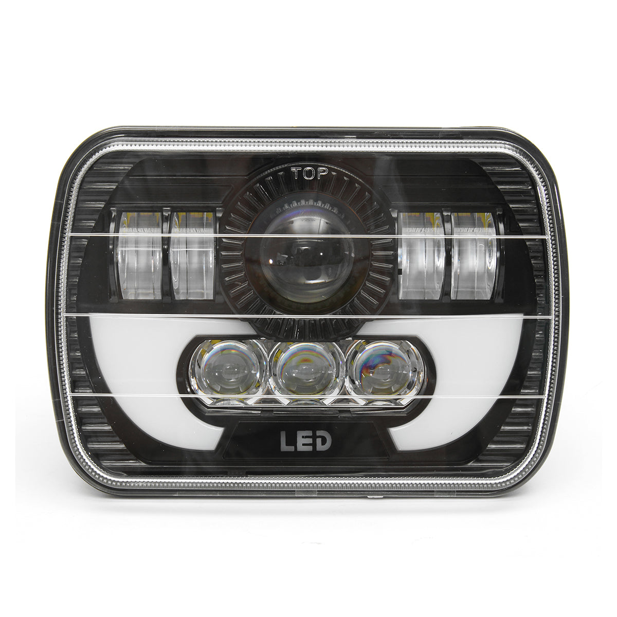 7x5Inch H4 Hi/low Beam Square LED Headlights Lamp DRL Light for Jeep YJ XJ Truck
