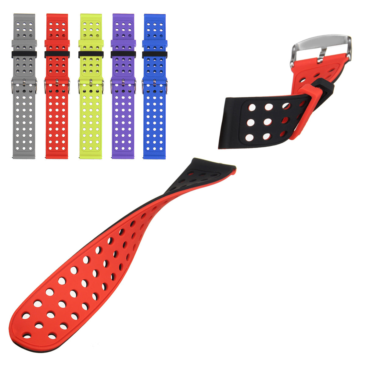 Fitbit Versa Replacement Silicone Rubber Classic Smart Watch Band Strap For Fitbit Versa