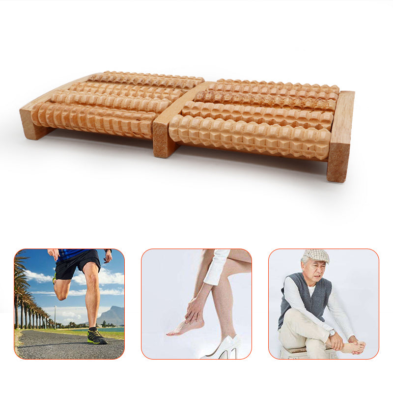 Wooden Roller Foot Massager Sauna Kit Stress Relief Health Therapy Relax Massage Accessories for Sauna