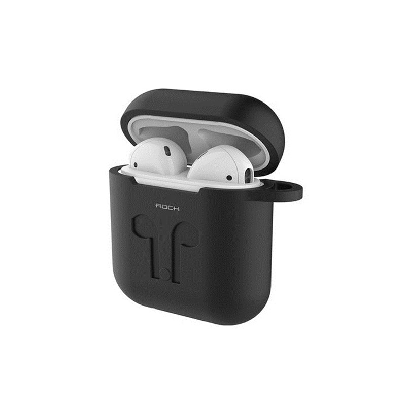 Rock Protective Silicone Carrying Case Shockproof Storage Cover for AirPods Apple Bluetooth Earphone