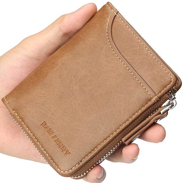 Baellerry Men Multifunctional Short Wallet Card Holder Clutches Bag