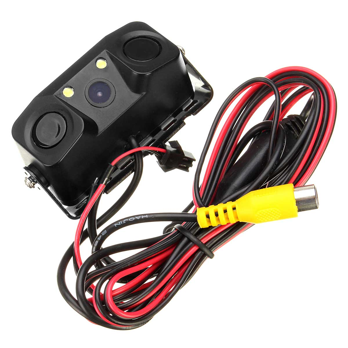 3 In 1 Video Car Reverse Backup Rear View Camera Parking Sensor Radar Detector