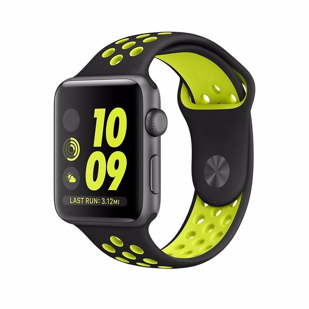 Apple Watch 1/2 Silicone iWatch Replacement Strap Band Breathable Belt For Apple Watch 1/2