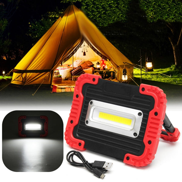 Portable 10W COB LED Work Light USB Rechargeable Outdoor Camping Lamp Handle Flashlight