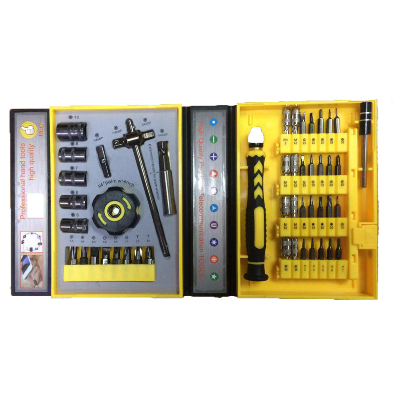 Screwdriver 47 In 1 Precision Sleeve Screwdrivers Telecommunication Tools CR-V Electronic Repair