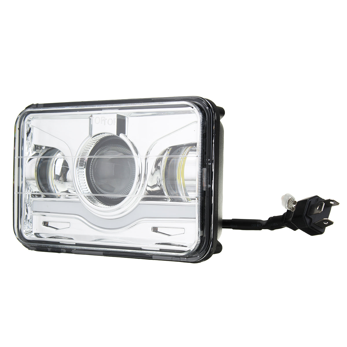 "4"" X 6"" White Car LED Headlight DRL Hi&Lo Beam Truck Replacement Lamp for Jeep"
