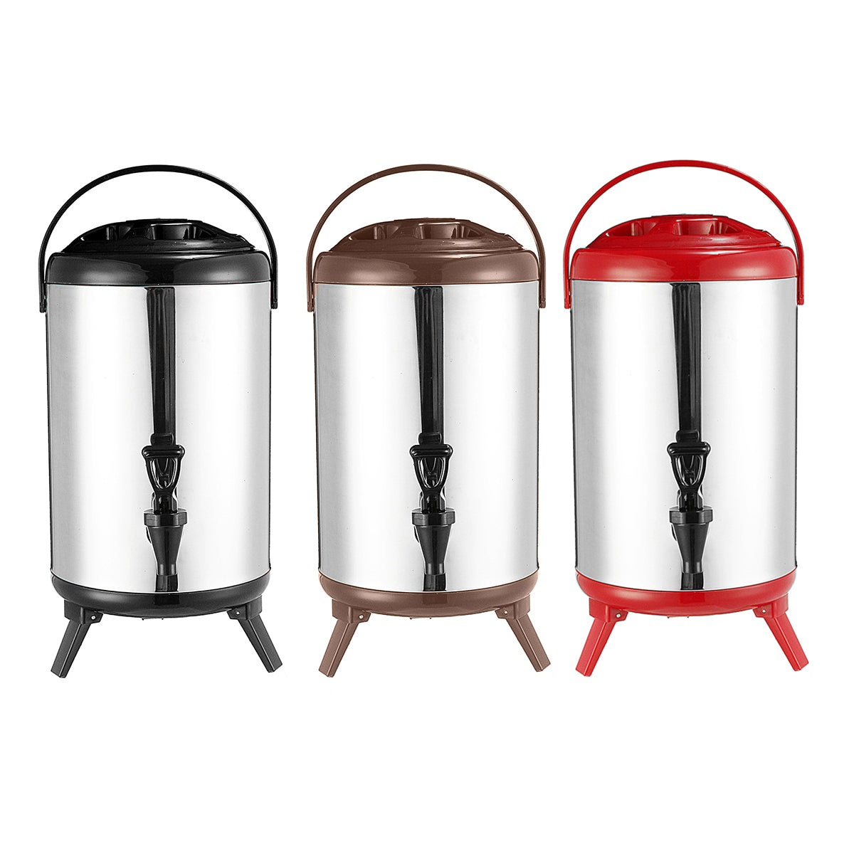 Electric Hot Bucket Faucet Stainless Steel Double Thermostat Coffee Milk Tea Bucket Water Boiler