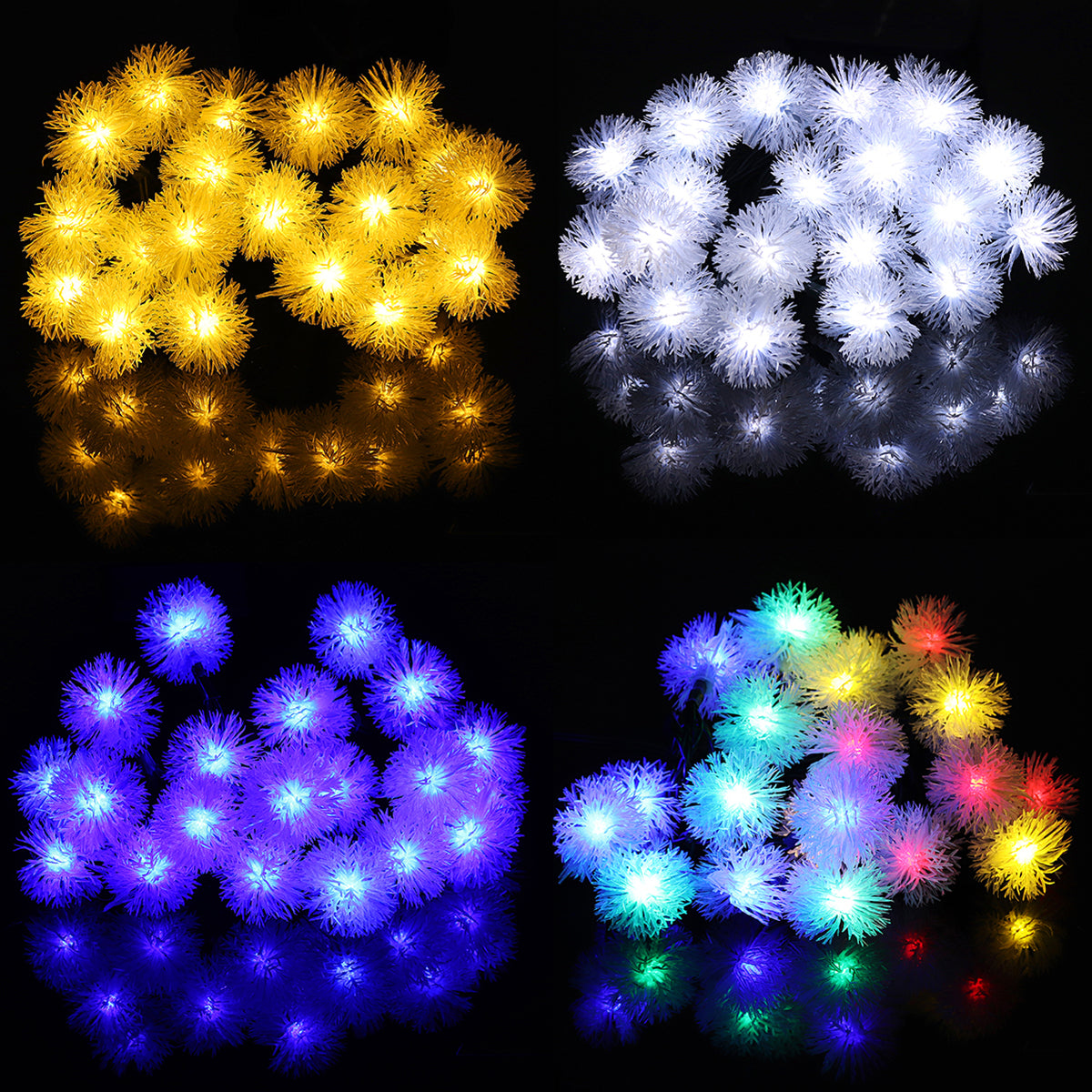 4.8M Solar Power Light Control 20 LED Christmas Fairy String Light Party Outdoor Patio Decor Lamp