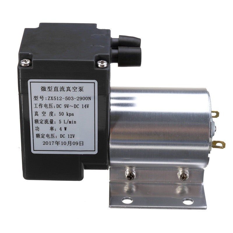 DC 12V Mini Noiseless Vacuum Pump Negative Pressure Suction Pump 5L/min 80kpa
