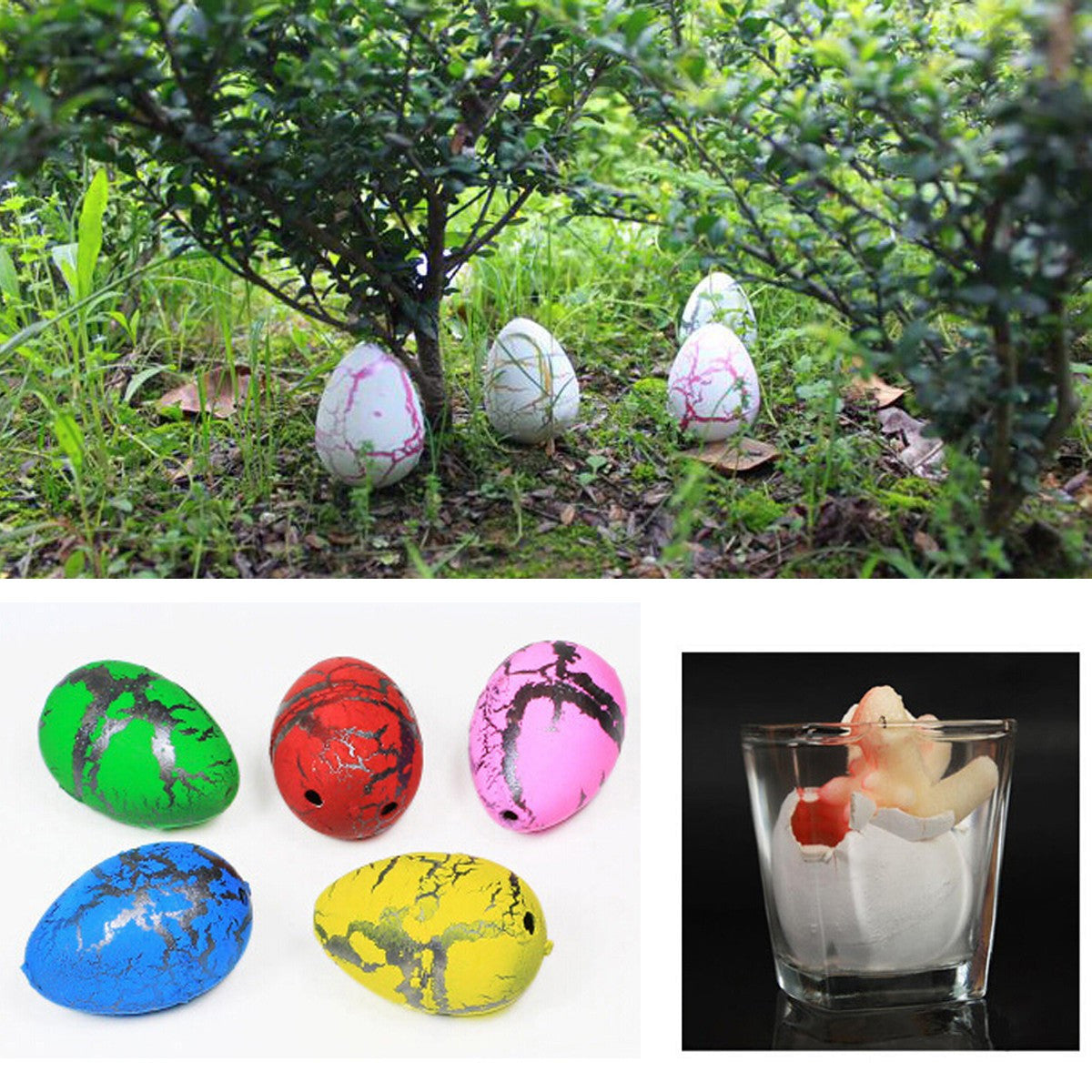 5PCS Medium Funny Magic Growing Hatching Dinosaur Eggs Christmas Child Gifts