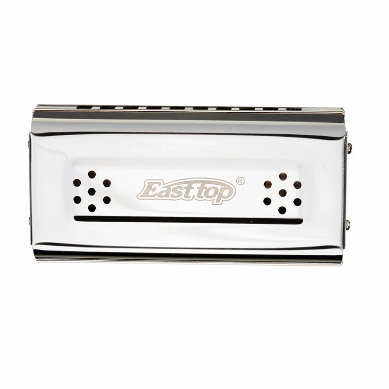 EASTTOP T10-2 10 Holes Blues Harp Harmonica with Two Sides Two Tunes C G Key