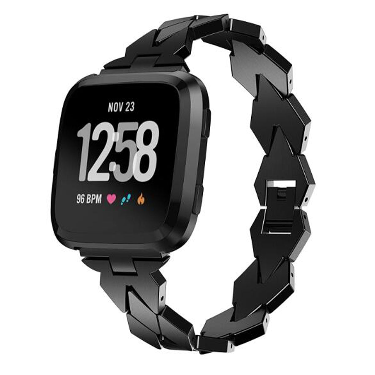 Fitbit Versa Stainless Metal Steel Smart Watch Band for Fitbit Versa