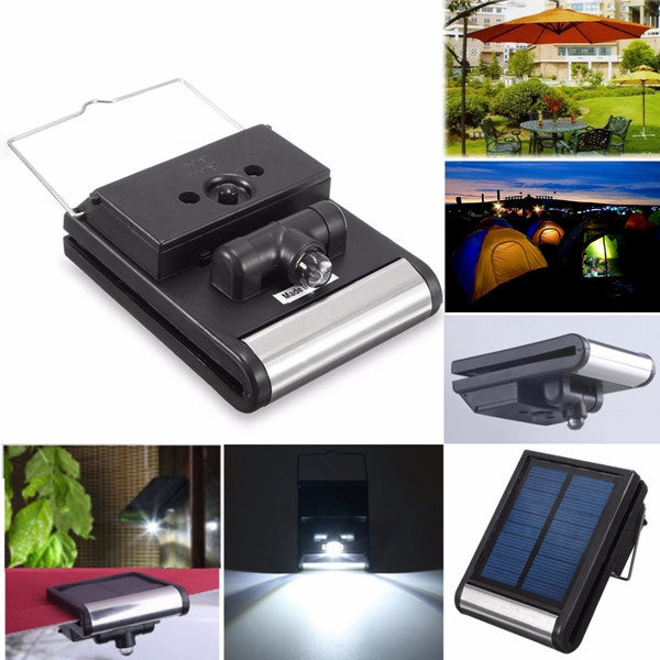 Portable Solar Powered LED Light Umbrella Tent Camping Garden Hiking Night Lamp