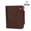 RFID Men Genuine Leather Business Clutch Bag Card Holder Wallet