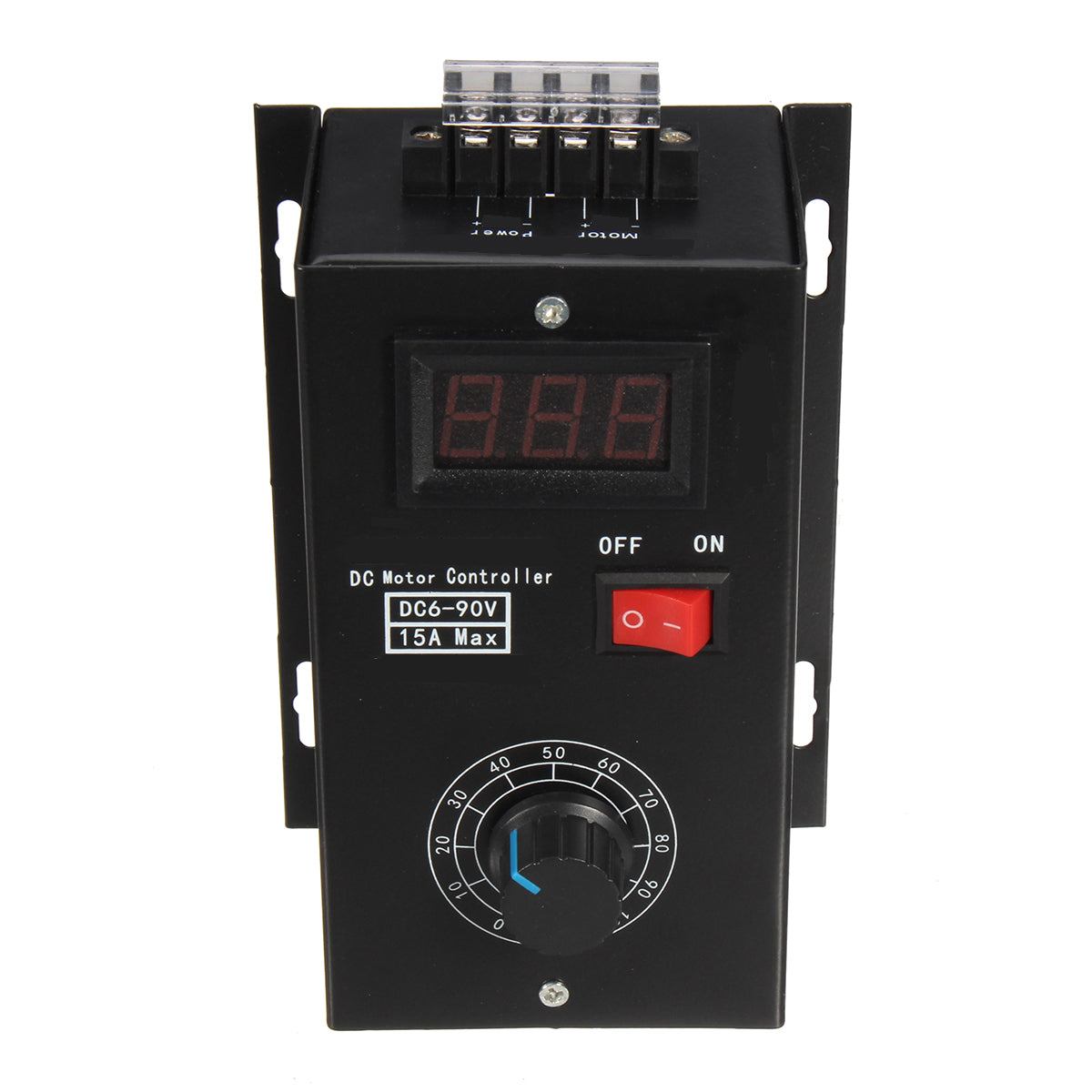 DC 6-90V PWM DC Motor Speed Controller Regulator PLC 15A Governor with Volt Display