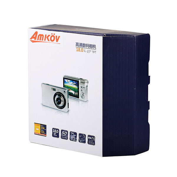 Amkov CDC32 1280 x 720 18MP 2.7 Inch TFT LCD 8X Digital Zoom Anti-shakeDigital Video Camera