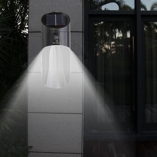 Solar Power 15 LED Microwave Radar Induction Sensor Wall Light Outdoor Garden Security Lamp