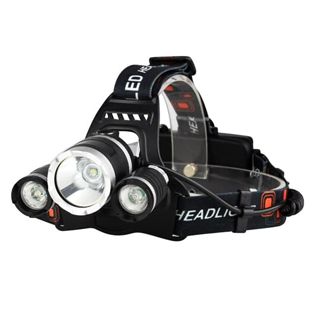 Boruit® RJ-3000 Headlamps Headlight Flashlight Zoomable Rechargeable 3000/5000 lm