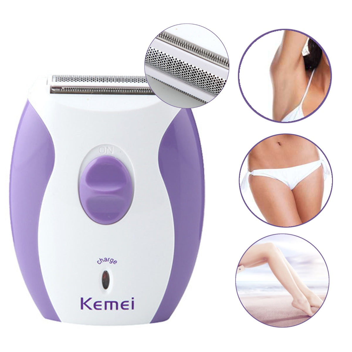 220V 4 in 1 Rechargeable Electric Instant Hair Remover Epilator Shaver Body Leg