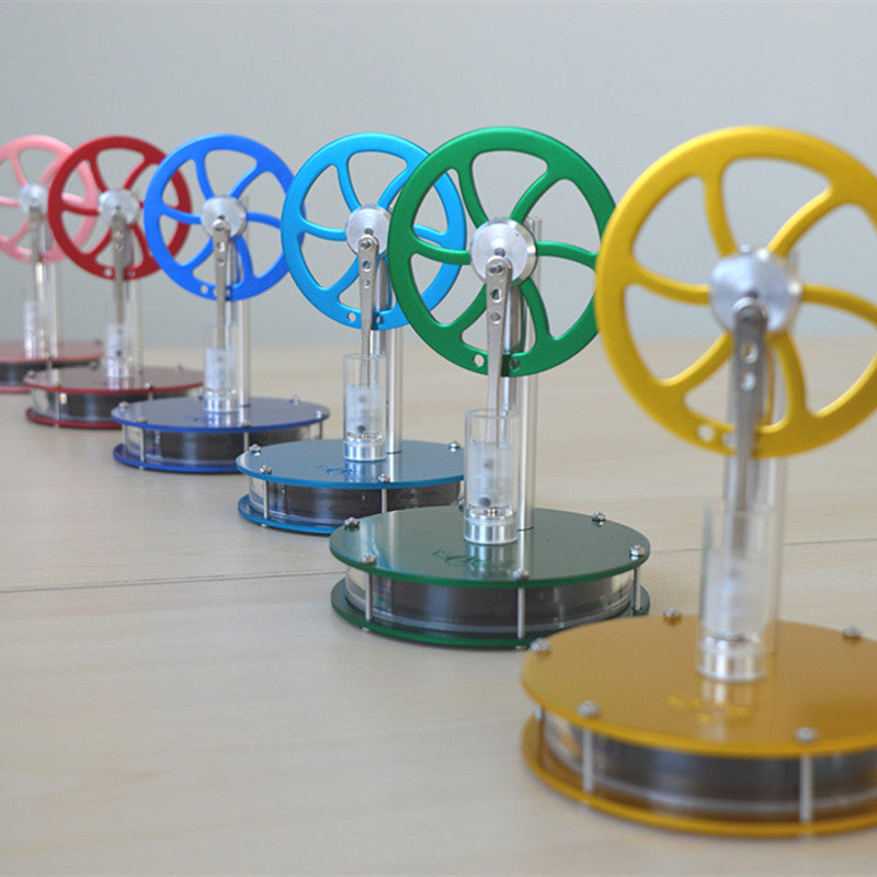 Colourful Low Temperature Hot Air Stirling Engine Model STEM Physics Experiment