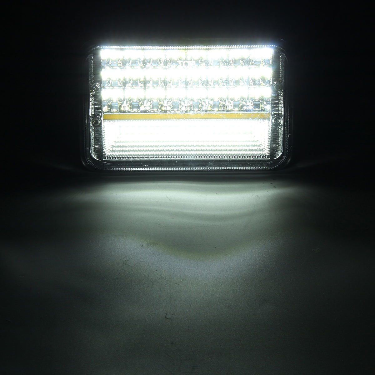 "1PCS 4""x6"" H4 10V-30V 45W 6000K High Low Beam LED Headlights DRL for OFF Road Tractor Truck"