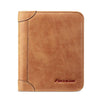 Genuine Leather Men Wallets Vintage Trifold Wallet Short Wallet Card Holder