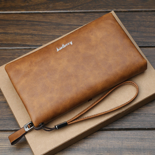 Baellerry Men Multifunctional Long Business Wallet Phone Bag Clutch Bag