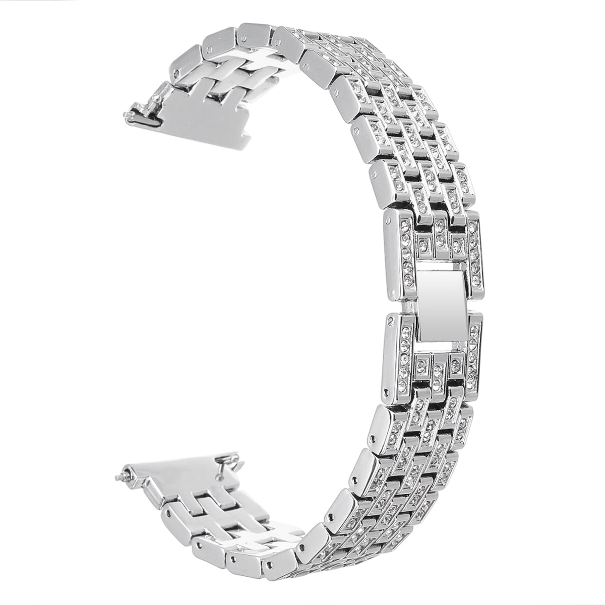 Fitbit Versa 12mm Replacement Stainless Steel Diamond Wrist Watch Band Strap For Fitbit Versa