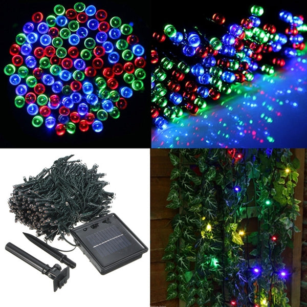400 LED Solar Powered Fairy String Light Garden Party Decor Xmas