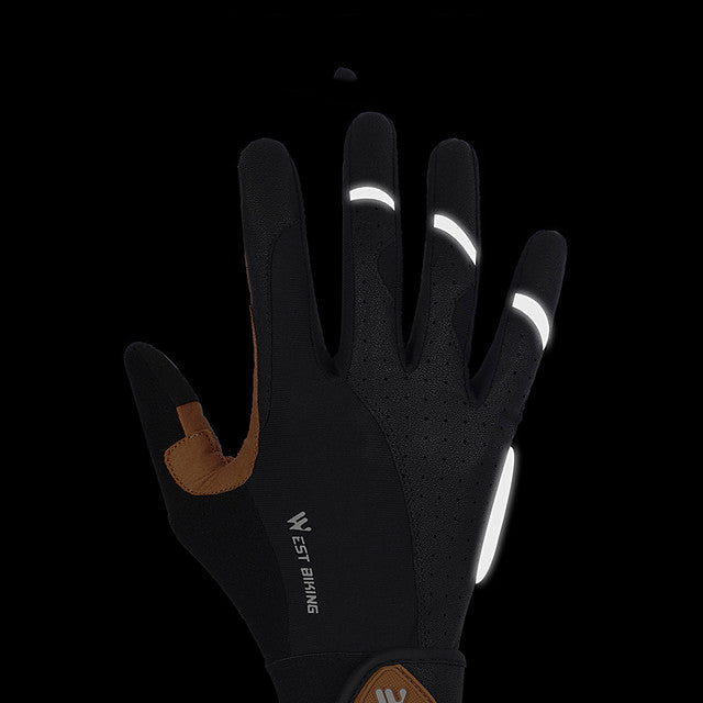 Bike Gloves / Cycling Gloves Touch Gloves Reflective Breathable Wearable Skidproof Full Finger Gloves Sports Gloves